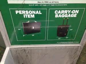 frontier baggage fees new baggage guidelines on frontier airlines