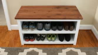 shoe storage with bench diy adjustable shoe storage bench fixthisbuildthat