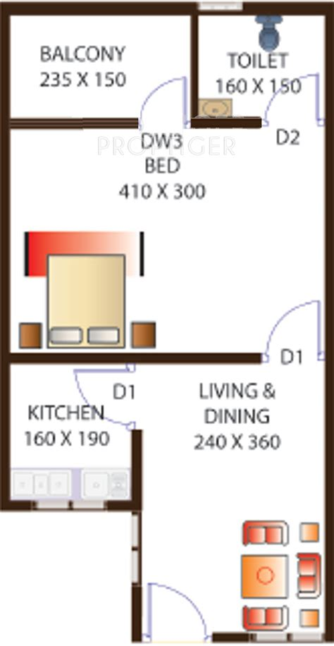 520 sq ft 520 sq ft 1 bhk 1t apartment for sale in inland properties