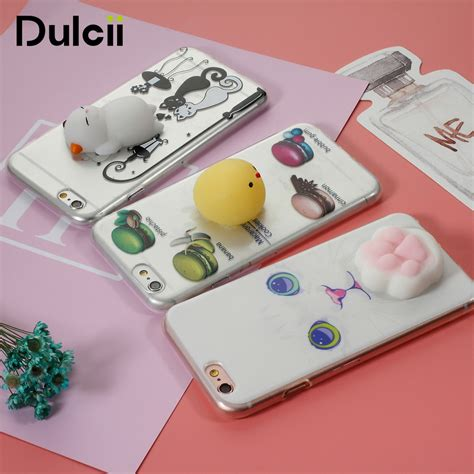 C0353 Squishy For Iphone 5 5s Se 6 6s 6 6s 7 7 dulcii squishy for iphone 5 5s se cover for 6 6s 7 7 plus 3d soft silicone cat pinch
