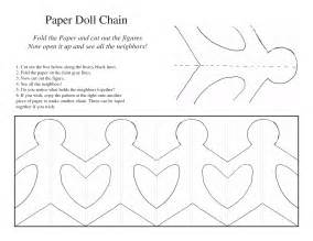 paper doll chain template 5 best images of printable paper chain template