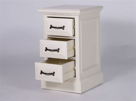 narrow bedside table with drawers london painted bedside table with 3 drawers narrow