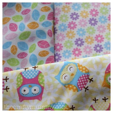 Owl Quilting Fabric by Owl Cushion Vintage Floral Home Diy Craft