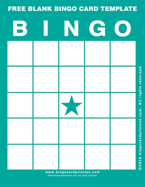 make your own bingo cards template free blank bingo card template bingocardprintout