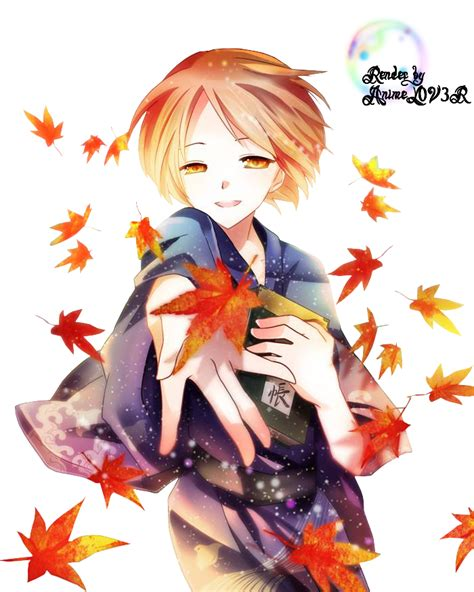 Autumn Changes My Rin Akizakura autumn anime render by ani07 d6d2h91 by wenvell on deviantart