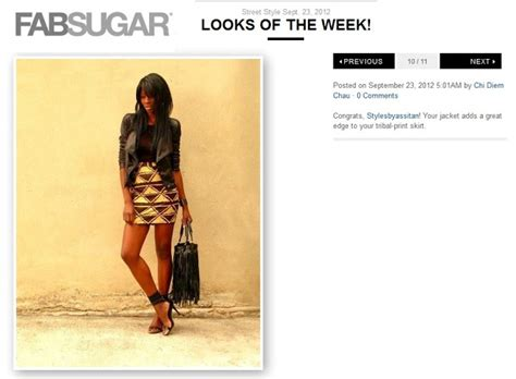 Looks Of The Week Fabsugar Want Need 23 featurings de la semaine styles by assitan mode