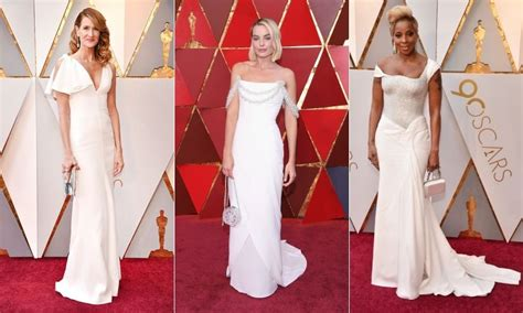 July Carpet Trends All White by Margot Robbie Leads White Gown Trend At 2018 Oscars Photo 1