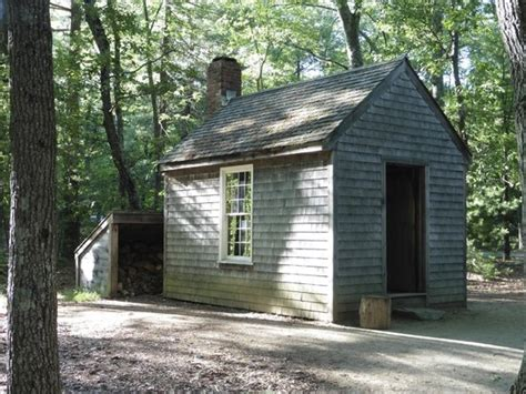 Walden Pond Thoreau Cabin by Replica Of Thoreau S Cabin At Walden Pond Picture Of