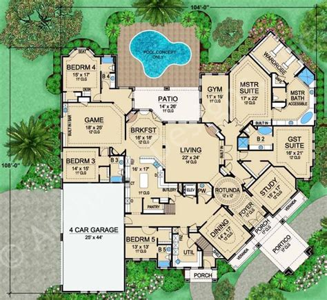Estate Home Plans by Mira Vista Luxury Home Blueprints Residential House