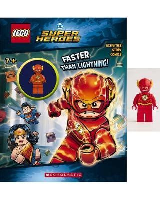 faster than lightning lego dc comics heroes activity book with minifigure lego dc heroes books lego dc heroes faster than lightning activity book