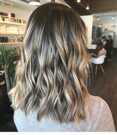 wavy lob hair styles color styling trends