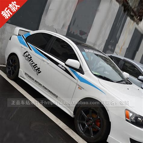 Sticker Stiker Wiper Mobil Mitsubishi 2 Buah car styling racing need for speed stickers
