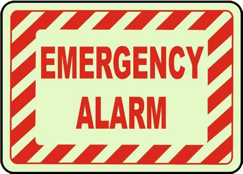 Alarm Emergency emergency alarm sign a5048 by safetysign