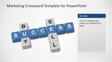marketing crossword powerpoint template buy sell success