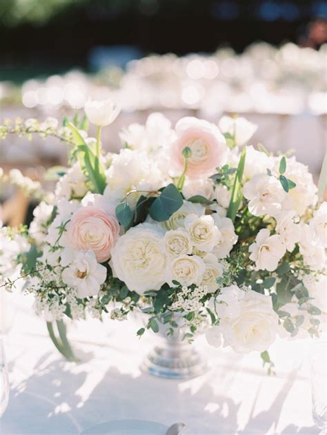 All White Wedding Flower Arrangements by A Totally Chic All White Wedding Ranunculus Wedding