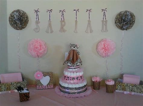 Leopard And Pink Baby Shower Decorations by Cheetah Print And Pink Baby Shower Decorations Baby Shower Ideas Pink Baby