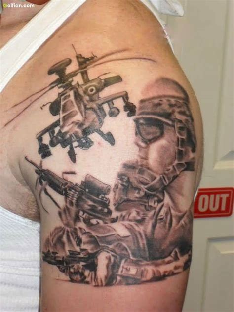 50 awesome army sniper tattoo design coolest army gun