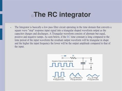 integrator circuit using rc rc differentiator and integrator circuits ppt 28 images rc and rl differentiator and