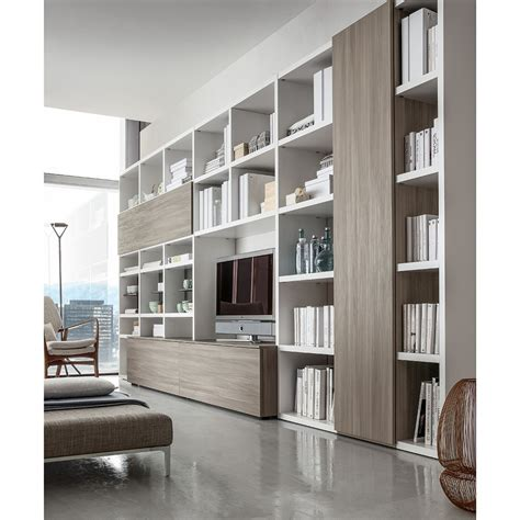 libreria soggiorno soggiorno moderno valentino