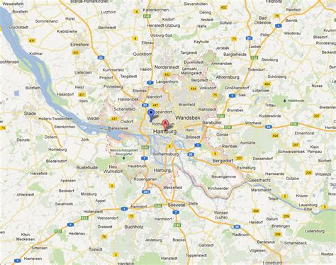 Hamburg Karte by Hamburg Karte