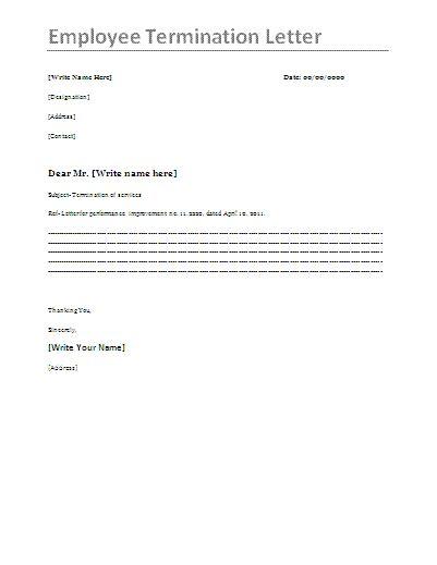 employee termination letter youtube