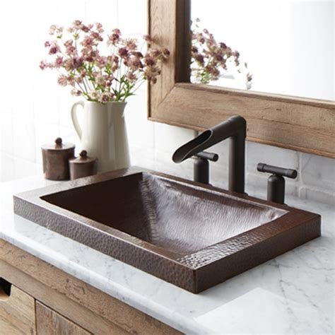 sink in bathroom hana copper bathroom sink native trails
