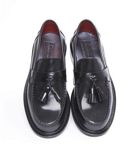 mens loafers with tassels uk mod shoes black tassel loafers ace punch black 1 mod shoes
