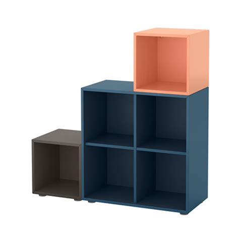 Ikea Eket Review | eket storage combination with feet dark blue dark gray