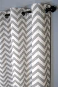 Blackout Chevron Curtains 84 Grey Zig Zag Grommet Curtains Two By Designerpillowshop