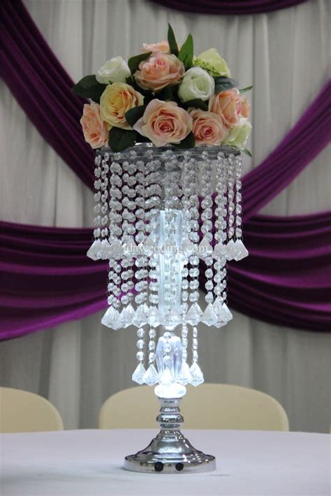 lighted flower centerpieces led lighted wedding centerpiece flower stand with acrylic for wedding home