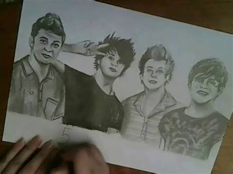 5 Second Sketches by 5 Seconds Of Summer Drawing Merima Beslagic