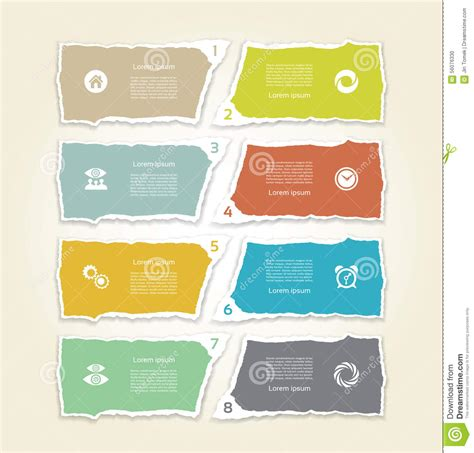 Modern Paper - modern paper bar chart infograpic elements vector