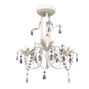 Lap Desks Crystal Pendant Ceiling Lamp Chandelier Elegant White