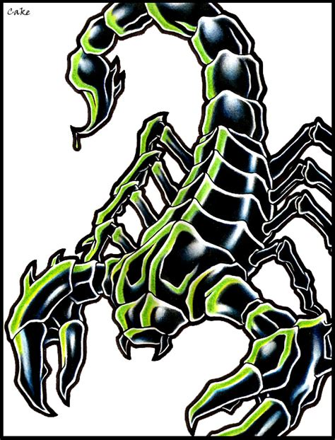 small scorpion tattoo designs scorpion design by cakekaiser on deviantart