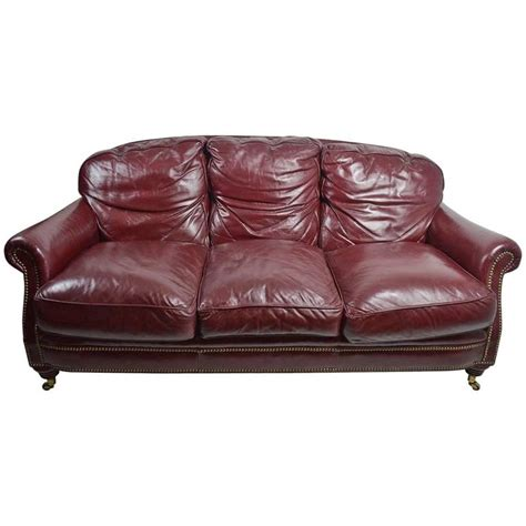 traditional leather sofas sale classic leather sofa couch for sale at 1stdibs