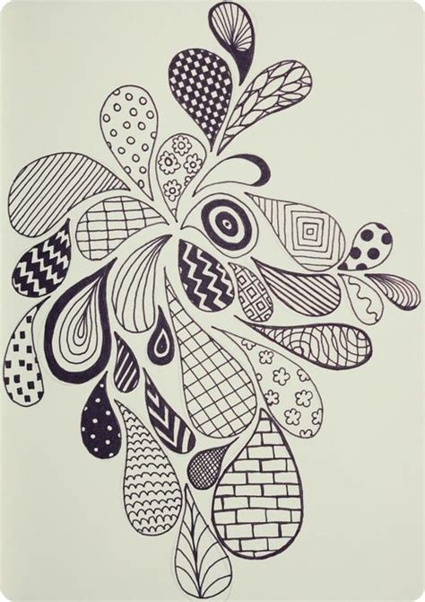 pattern drawing pinterest embroidery colouring in funky doodle art doodles