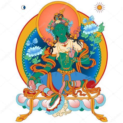 buddha watercolor illustration tutorial adobe green tara stock vector 169 mpmpya 85543792