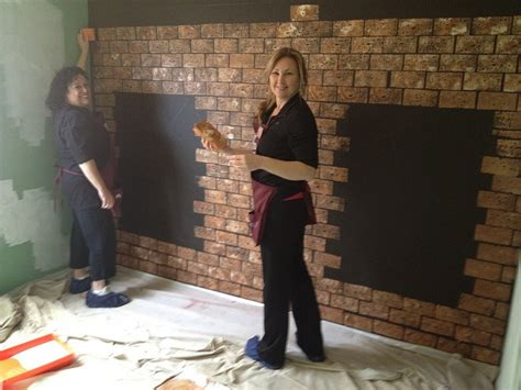 painting faux brick wall painting faux brick ideas to redo the house
