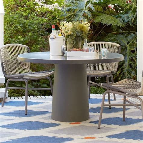 modern round outdoor dining table modern minimal design for the deck crafted from
