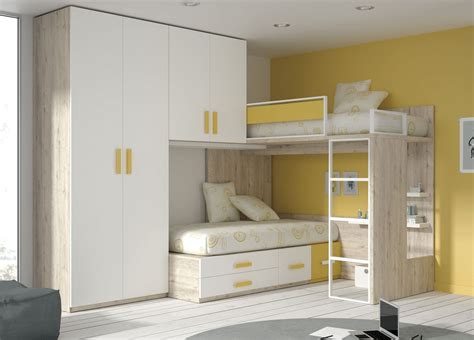 contemporary touch l single bed corner bunk contemporary melamine touch