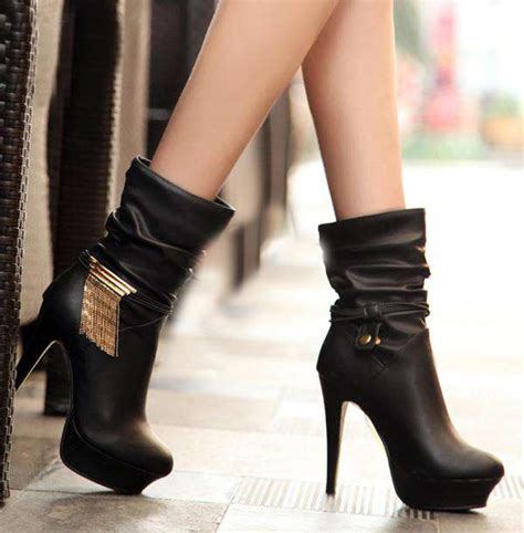 winter high heels boots winter collection of boots 2014 2015