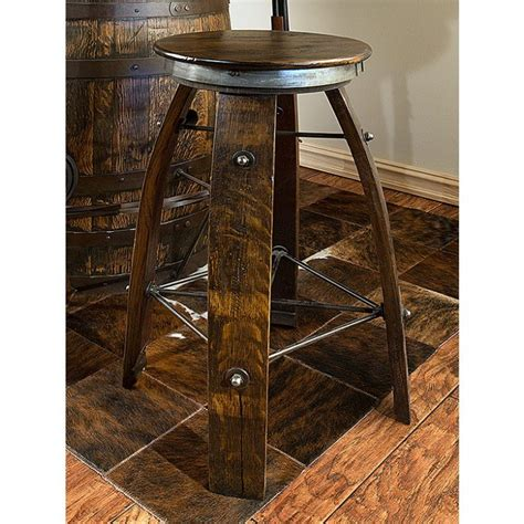 Reclaimed Wine Barrel Stools by Reclaimed Wine Barrel Stave Bar Stool