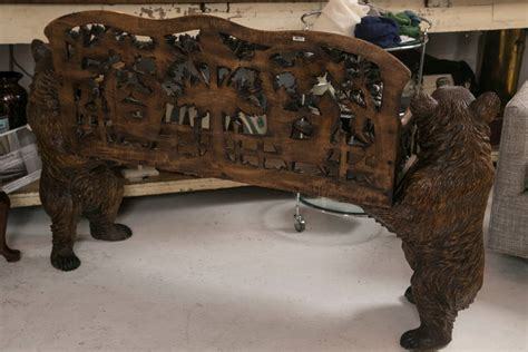 bears bench antique black forest quot dancing bears quot bench at 1stdibs