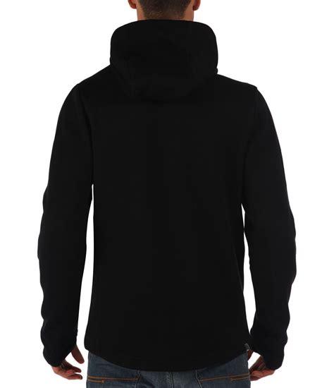 black hoodie bench assertive plain zip thru hoodie in black for men lyst