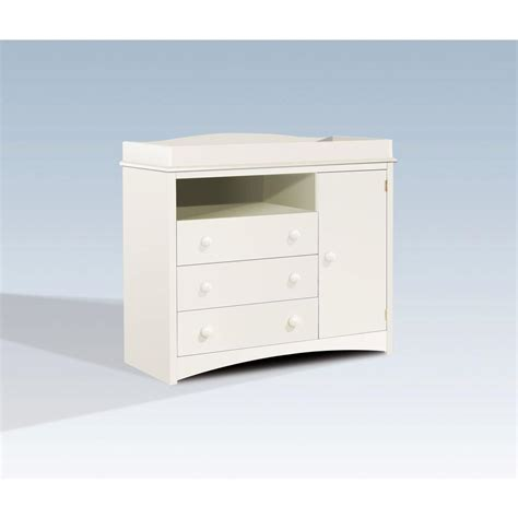 South Shore Peek A Boo 3 Drawer Pure White Changing Table South Shore Collection Changing Table White