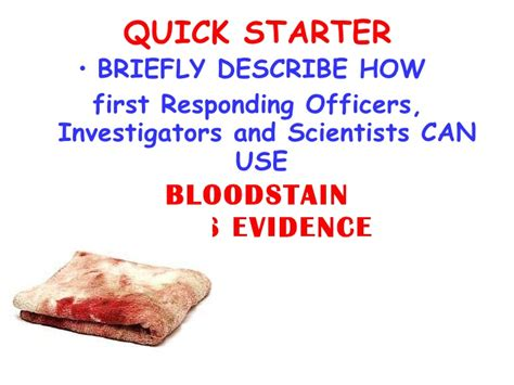 bloodstain pattern analysis notes bloodstain pattern analysis science week