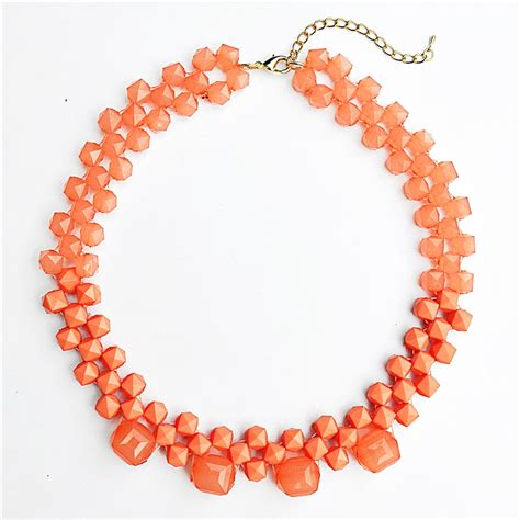 beaded collar necklace statement bib necklace with coral