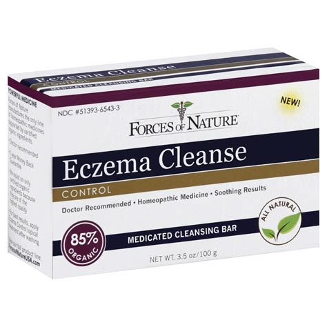 Detox Bath For Infant Eczema by Forces Of Nature Eczema Cleanse Bar 3 5 Oz