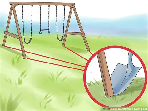 step one swing set 3 ways to anchor a swing set wikihow
