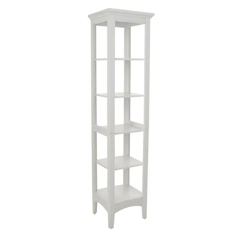 white bathroom linen tower elegant home fashions wilshire 15 in w x 60 in h x 13 in